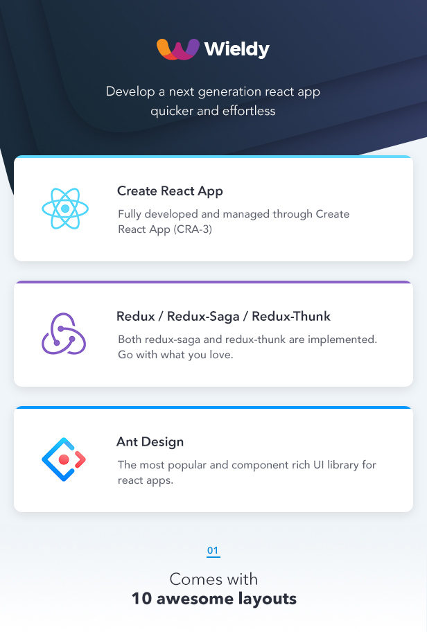 Wieldy - React Admin Template Ant Design and Redux - 1